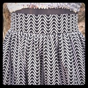 VINTAGE 60s hand sewn maxi skirt silver wave